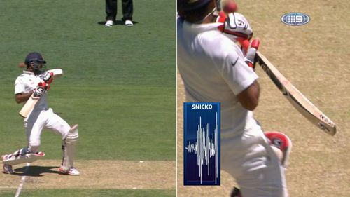 Replays suggested Pujara was unlucky to be given out caught behind. (WWOS)