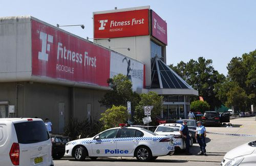 The Rockdale Fitness First where Hawi was killed. (AAP)