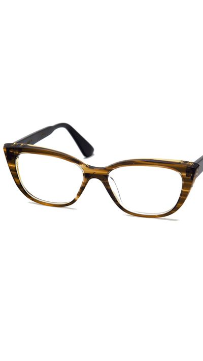 "<p><a href=""http://shop.grazstudio.com"" target=""_blank"">Linear Tortoise Italian Cast Resin with Gold Hardware Opticals, $300, Graz Studio</a></p>"