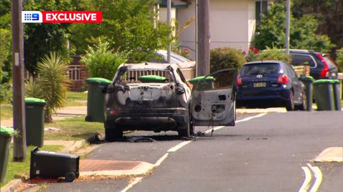 Witnesses told police two men ran from the scene and hopped in a car. A burned out car later found by police could be linked to the shooting.