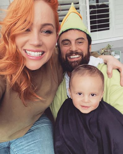 Jules and Cam share pictures of Ollie's first haircut.