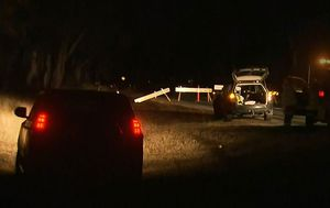 Three men killed after car hits tree and catches fire in 'tragic and horrific' accident north-west of Brisbane