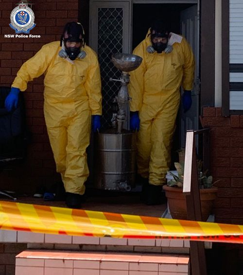 Some of the drug apparatuses are removed from the Chipping Norton home.