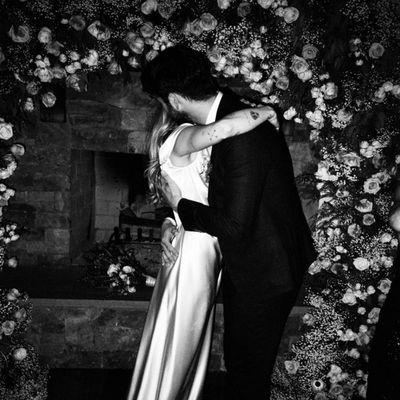 On their low-key wedding