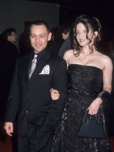 Doug Hutchison and Kathleen Davison attend The Green Mile New York City premiere in 1999.