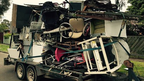 Melbourne man fined for towing trailer carrying a tower of junk