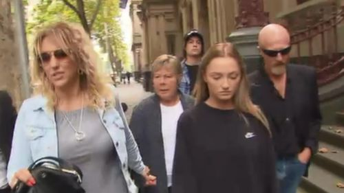 Hague's family defended the 44 year old outside the Supreme Court today. (9NEWS)
