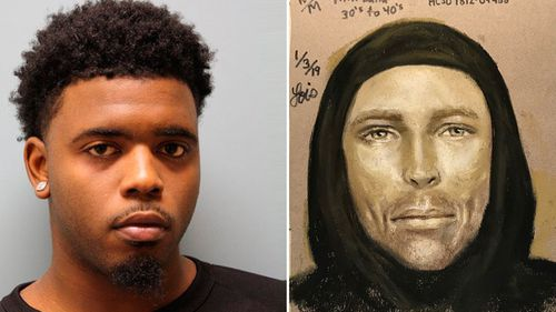 Eric Black Jr and a police composite sketch.