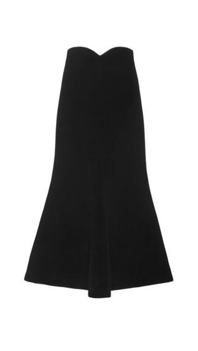 <p>The flared skirt</p>