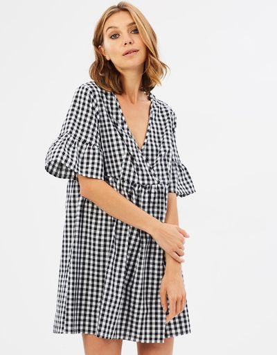 "<a href="" https://www.theiconic.com.au/olivia-smock-dress-518469.html"" target=""_blank"" draggable=""false"">Olivia smock dress</a>, $59.95"