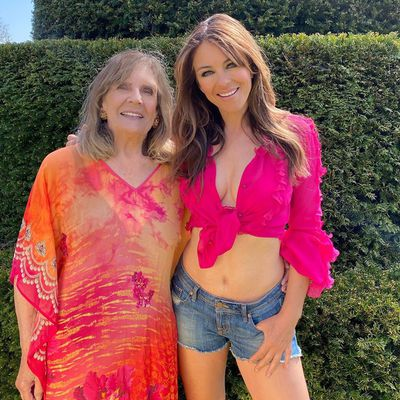 Elizabeth Hurley and mother Angela Mary Hurley