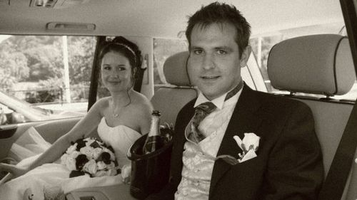 Tom and Jill Meagher on their wedding day. (supplied)