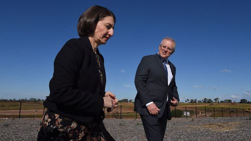 NSW Premier Gladys Berejiklian and Prime Minister Scott Morrison (Photo: Kate Geraghty)