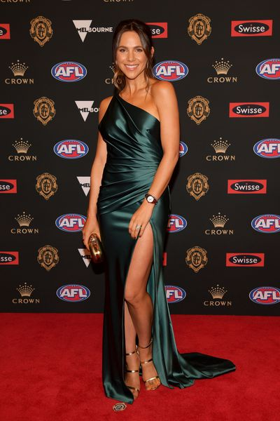 Alex Pendlebury, partner of Collingwood's Scott Pendlebury at the 2018 Brownlow Medal, September, 2018