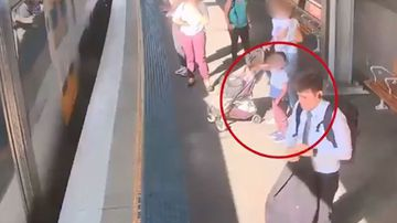 Boy falls between gap of Sydney train.