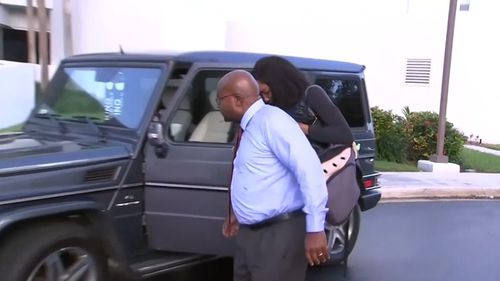 Williams arriving at her lawyer's Florida office. (Reuters)