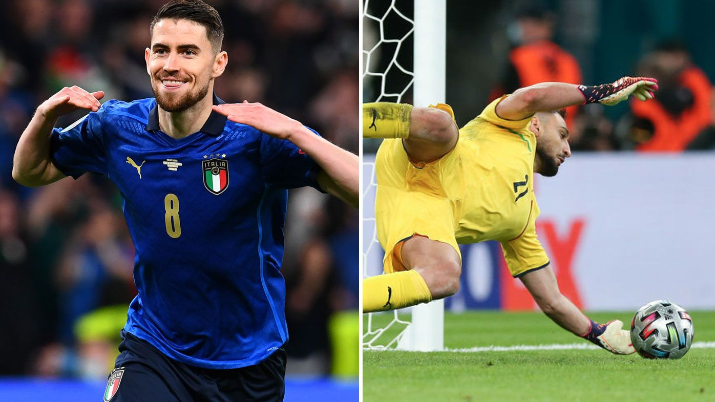 Italy through to the EURO Final after downing Spain in penalties.