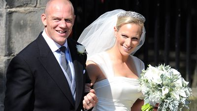 Mike and Zara Tindall marry in Scotland, July 2011