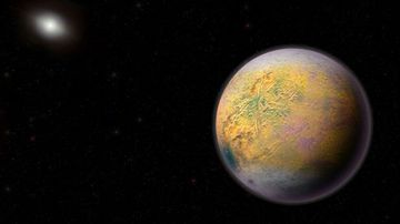 An artist's conception of Planet X, the still-hypothetical object believed to be part of our solar system.