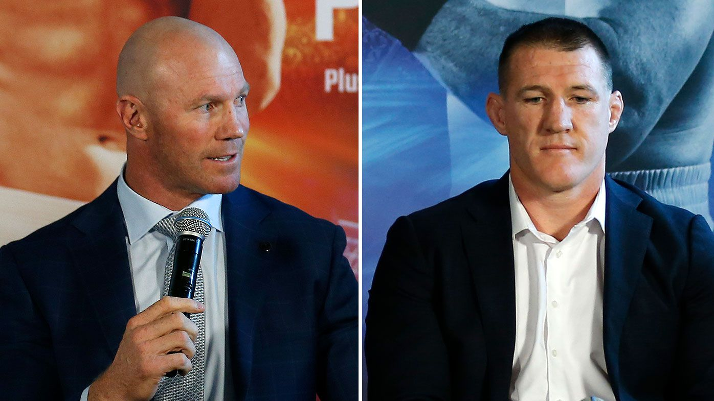 Barry Hall snaps at Paul Gallen's 'bulls---' fight claims in heated exchange