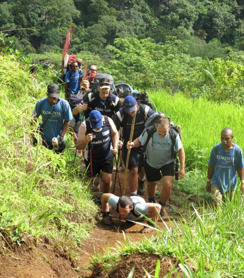 The athlete famously crawled the 96km Kokoda Track in 10 days. (AAP)