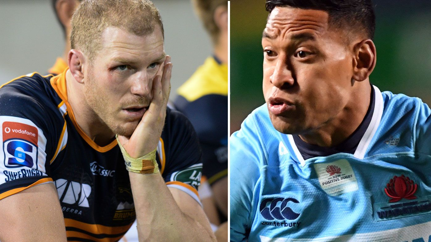 David Pocock and Israel Folau