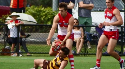 Michael Dickson played eight or nine games in the Sydney Swans reserves, but he missed out on getting picked in the draft.