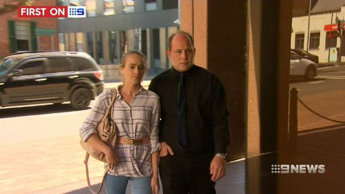Robert Mann and Jaimi-Lee Atkinson arrived at court together. (9NEWS)
