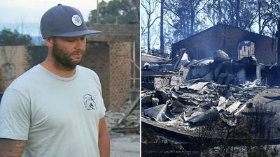 Tathra man chokes back tears recounting catastrophic blaze