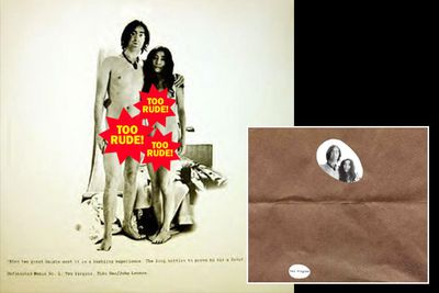 All John and Yoko needed was love - the rest of the world thought they needed a brown sleeve covering their bits.
