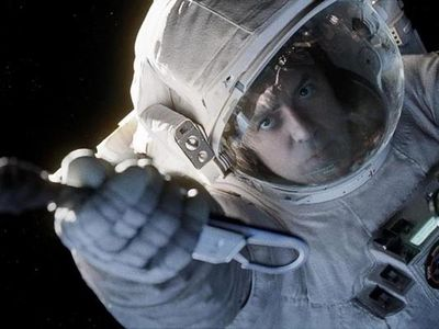 <strong>Best Motion Picture - Drama: </strong> <em> <strong>Gravity</strong><br/><br/>Gravity</em> is also up in the drama category. Does it have what it takes to win the gong?