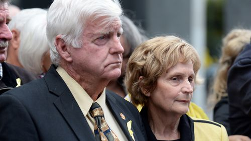 Parents of domestic violence murder victim Allison Baden-Clay have urged Australians to speak out against domestic violence. Picture: AAP.
