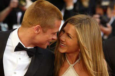 Jennifer Aniston and Brad Pitt<br />