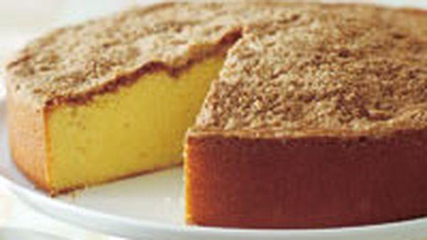 Cinnamon-topped butter cake