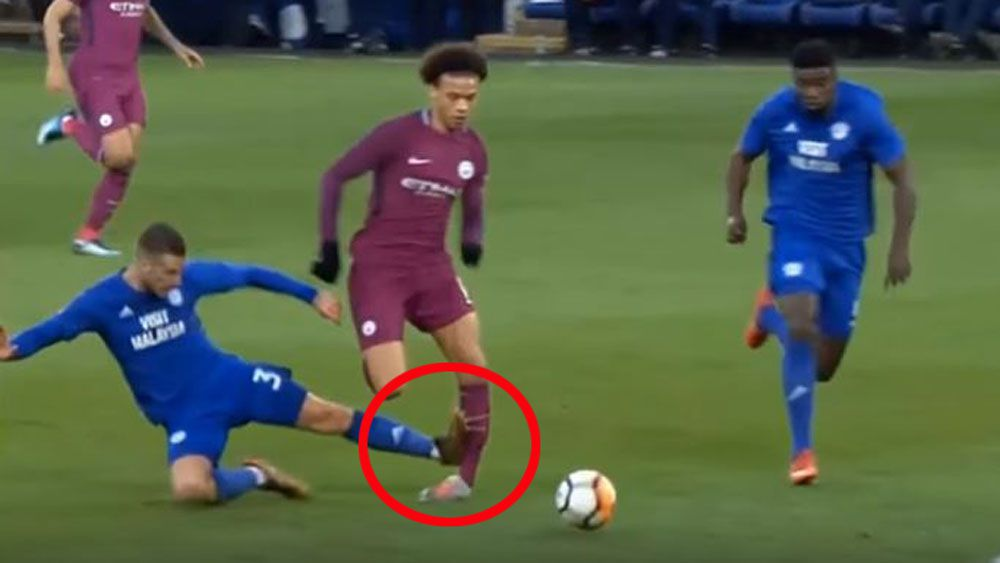 Manchester City's Leroy Sane injured in sickening tackle in FA Cup win over Cardiff City