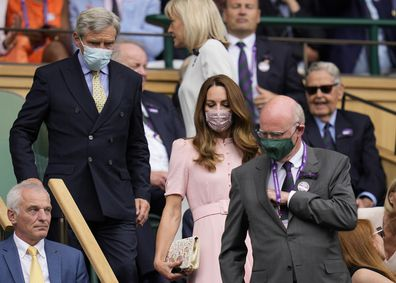 Kate Middleton arrives at Wimbledon.