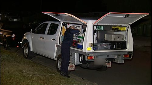 Police are treating the man's death as suspicious. Picture: 9NEWS
