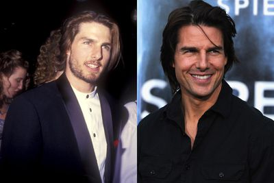 Tom Cruise: pasty in his thirties, bronzed and buff now.