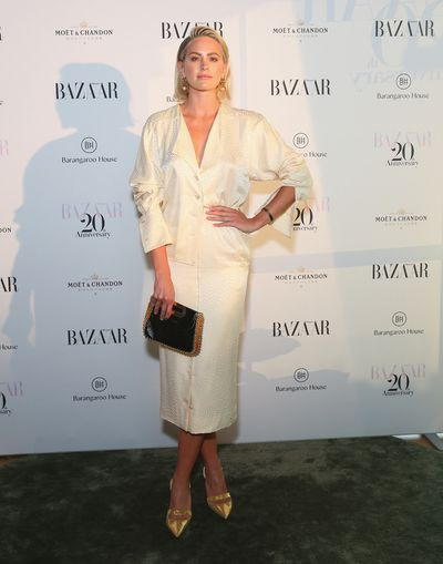 """<p>Sydney's style set turned out last night to celebrate <em>Harper's Bazaar</em>'s 20th anniversary celebrations</p> <p>Jesinta Campbell, Lindy Klim, and Jasmine Yarbrough were among the guests at a VIP party at Matt Moran's new Smoke rooftop barat Barangaroo House.</p> <p>Editor Kellie Hush told the Sydney Morning Herald that the318-page bumper edition, featuring actress Margot Robbie on the cover, is a nod to the current fashion climate. """"My whole goal was to put out a magazine that captured an essence of where fashion is today and where it is going, so when you look at it in 20 years, people will think, 'oh wow, that was happening in 2018.'""""</p> <p>Click through for our favourite looks from the red carpet...</p>"""