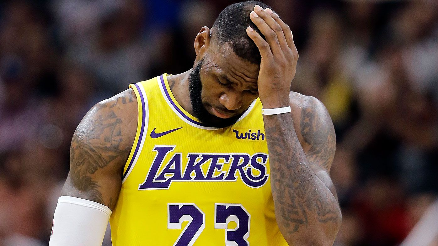24ed6b41 LeBron James fires off ominous warning as Lakers drop fifth game of the  season