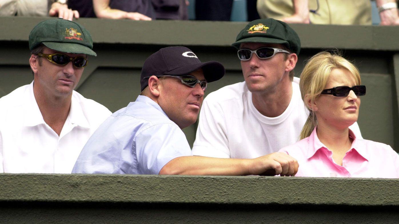 Warne, Waugh, McGrath at Wimbledon