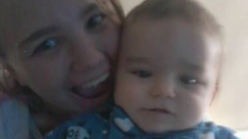 Jamee Malcolm and her son, Harro Dean. (9NEWS)