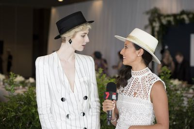 Elizabeth Debicki and Teigan Nash.