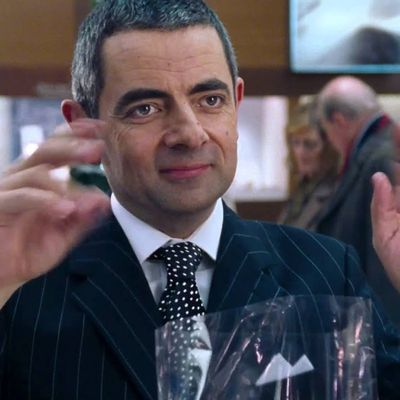 Rowan Atkinson's shop assistant character was on our side the whole time