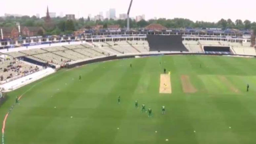 Australia's ICC Champions Trophy warm-up match against Pakistan ruined by rain