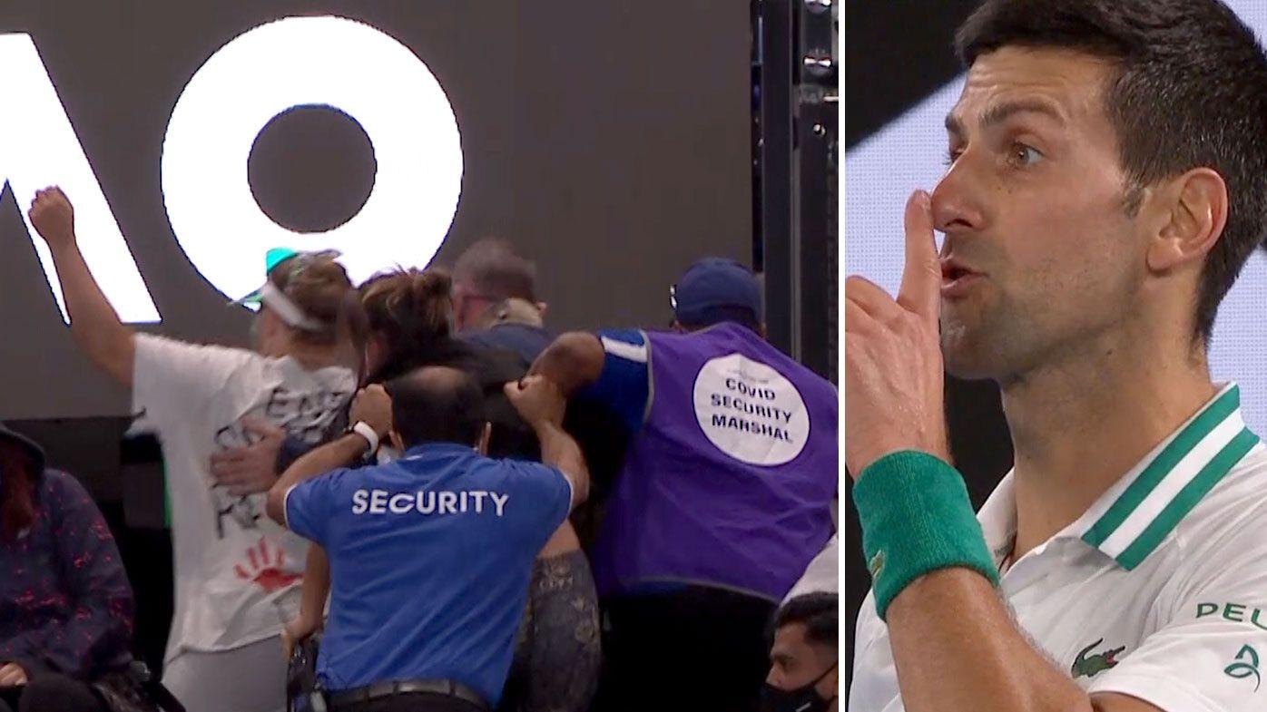 Wild Rod Laver Arena crowd mars Australian Open final between Novak Djokovic and Daniil Medvedev