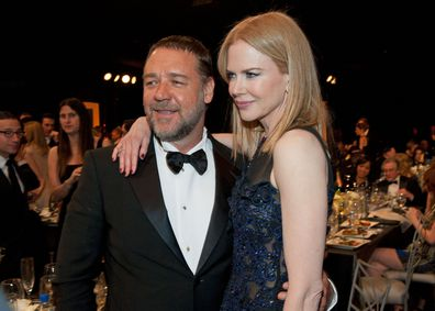 Russell Crowe and Nicole Kidman attend the 19th Annual Screen Actors Guild Awards at The Shrine Auditorium on January 27, 2013.