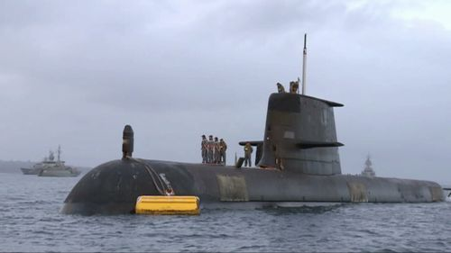HMAS Waller is one of the Navy's six Collins class submarines. (9NEWS)