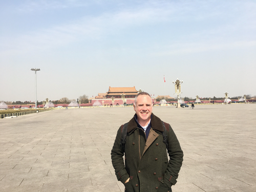 Mike Smith in Tiananmen Square, Beijing, in early 2018.