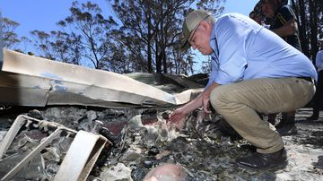 Prime Minister Scott Morrison visits the fire-ravaged Binna Burra region in the Gold Coast hinterland.